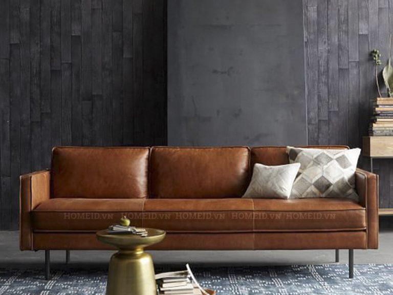 mẫu sofa gỗ da đẹp
