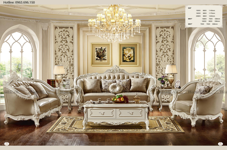 sofa trang kem h936sf